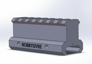 Elevador de Trilho Padrão 20-22mm 3cm Altura