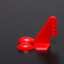 Horn Vermelho 20x27mm com 4 furos