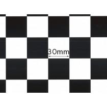 Monokote/Chinakote 402 xadrez preto 0,64x0,5mt