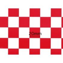 Monokote/Chinakote xadrez Vermelho 20mm 0,64x0,5mt